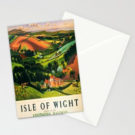 retro Isle of Wight retro poster Stationery Cards