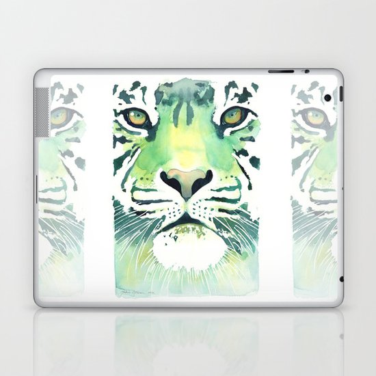 Green Tiger Laptop & iPad Skin