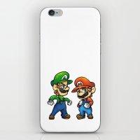 luigi iPhone & iPod Skins featuring Mario & Luigi  by Kirafrog