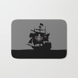 ship in the ocean Bath Mat
