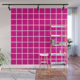 Pink Grid Pattern 2 Wall Mural