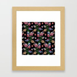 Traditional flower seamless background. Eastern style beautiful design Framed Art Print