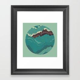 TOPOGRAPHY 004 Framed Art Print