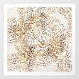 Metallic Circle Pattern Art Print