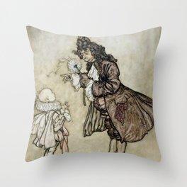 "Arthur Rackham Fairy Art from ""The Little White Bird"" Throw Pillow"