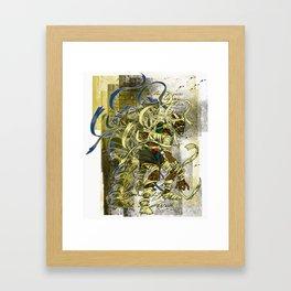 Mummy Stoned Framed Art Print
