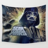 vader Wall Tapestries featuring Vader by DisPrints
