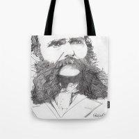 moustache Tote Bags featuring Moustache by Paul Nelson-Esch Art