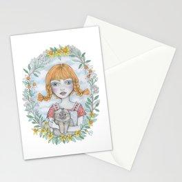 pippi long stocking Stationery Cards
