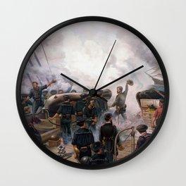 Civil War Naval Battle - Kearsarge And Alabama Wall Clock