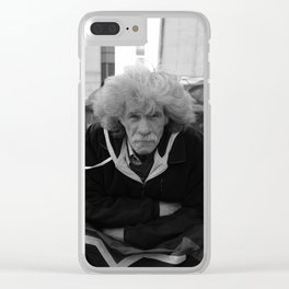 Man on The Streets Clear iPhone Case