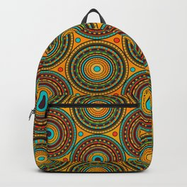 Ethnic Tribal Circular Pattern N 1 Backpack
