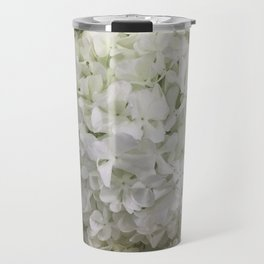 White Hydrangea Travel Mug