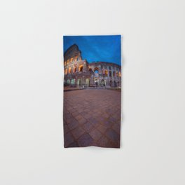 Colosseum at night Hand & Bath Towel
