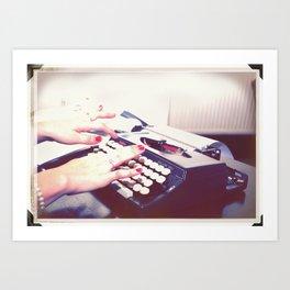 typwriter Art Print