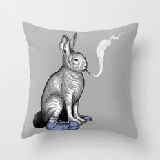 Carrot smoke trick Throw Pillow