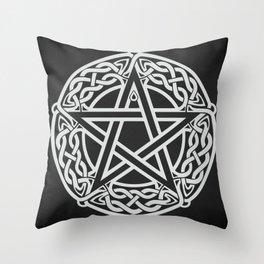 Celtic Pentagram Throw Pillow