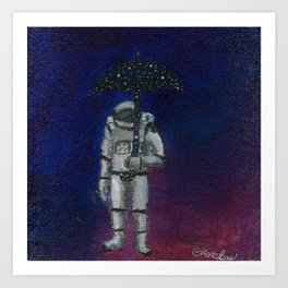 Astronaut Weather Man Art Print