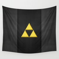 triforce Wall Tapestries featuring Zelda Triforce by neutrone
