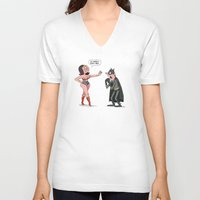 super heroes V-neck T-shirts featuring Super Heroes  by carriehobson