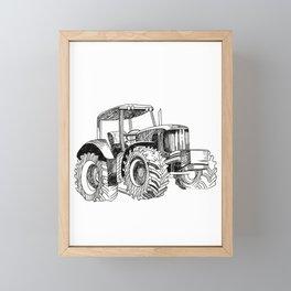 No Food Without Farmer Farm Farming Farmboy Tractor Gift Framed Mini Art Print