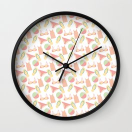 Pattern with swimsuits Wall Clock