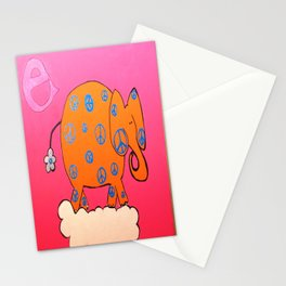 'E' is for Elephant of Peace Stationery Cards