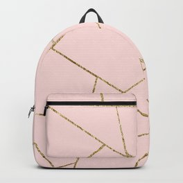 Blush Pink Gold Geometric Glam #1 #geo #decor #art #society6 Backpack