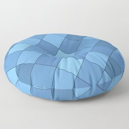 Blue tiles pattern Floor Pillow