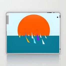 Minimal regatta in the sun Laptop & iPad Skin