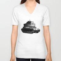kafka V-neck T-shirts featuring Kafka Tank by paragraph