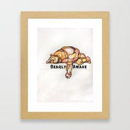 BEARly Awake Framed Art Print