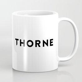 Thorne Logo Black Coffee Mug