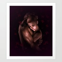 lovers Art Prints featuring Lovers by Britta Glodde