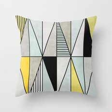 Colorful concrete triangles Throw Pillow