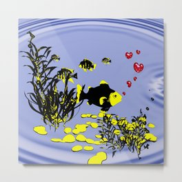in love under water Metal Print