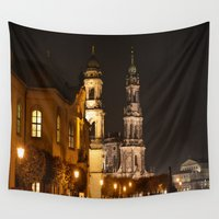 baroque Wall Tapestries featuring Dresden Baroque  by DuniStudioDesign