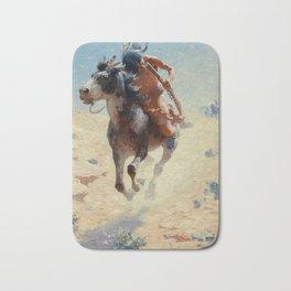 "William Leigh Western Art ""Indian Rider"" Bath Mat"