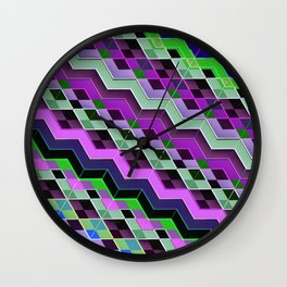 3d ZigZag patterns Wall Clock