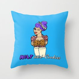 Milf and Cookies Throw Pillow