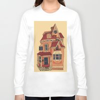 victorian Long Sleeve T-shirts featuring Victorian House by Syrupea