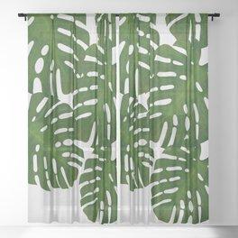 Monstera Leaf I Sheer Curtain