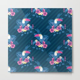 Tropical Flora and Fauna Metal Print
