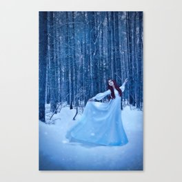 Snow Dancing Canvas Print