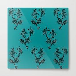 Life Aquatic Pattern Metal Print