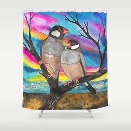 Java sparrow Shower Curtain