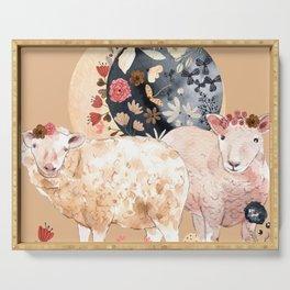 Celestial Sheep - Creme Serving Tray