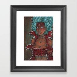 Carny Queen Framed Art Print