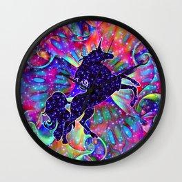 UNICORN OF THE UNIVERSE multicolored Wall Clock