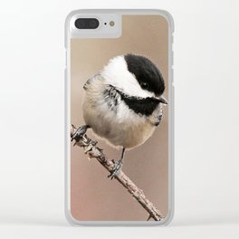 Chickadee #2 Clear iPhone Case